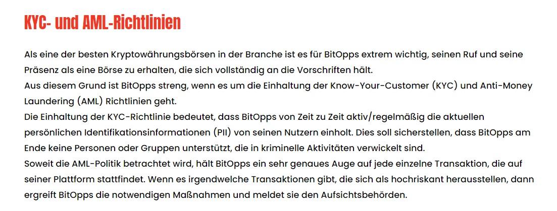 BitOpps ist reguliert