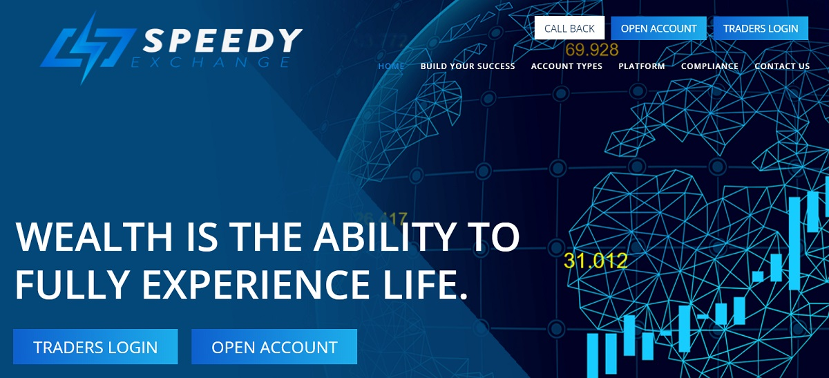 Speedy Exchange homepage