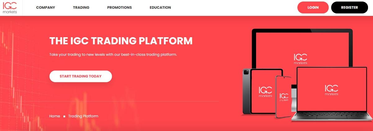 IGC Markets Web-Based Trading Platform
