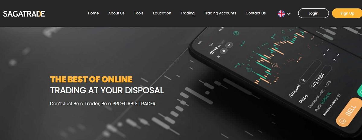SagaTrade homepage